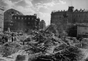War damaged Vienna 1945