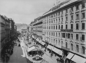 The Graben around the turn of the century - where the family Jewlery Shop was located