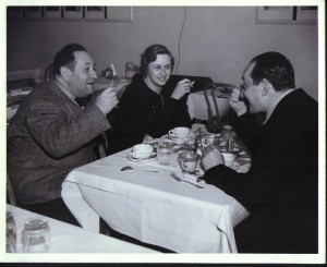 The Korngold with Henry Blanke in the Warner Bros Dining Room