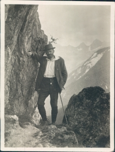 Richard Stöhr - hiking on the Dachstein in the Alps c. 1919