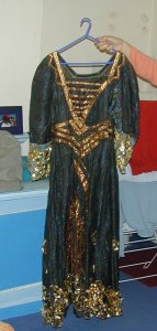 one of many Hilde Holger costumes kept together with props and stage designs