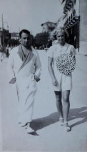 Hilde Föda with financée Kurt Buresch pre-1938