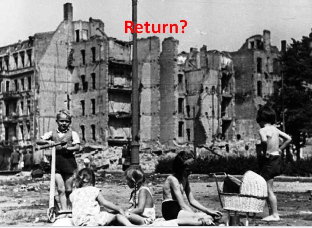 Return? Children playing in Berlin 1945