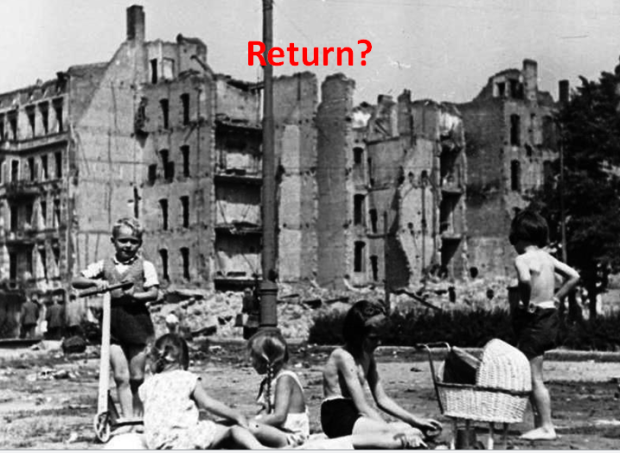 Return? Children playing in Berlin 1945
