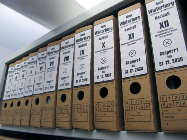 The Winterberg Archive Held at the SMI in Regensburg, and clearly marked 'Gesperrt', or 'Inaccessible'