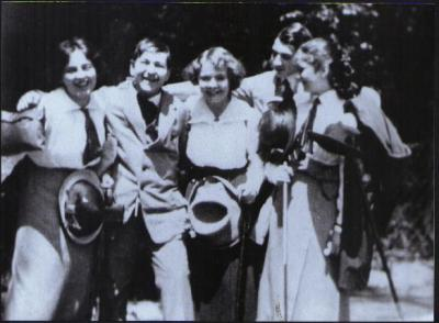 1912, Luzi and Erich with friends Rudi and Mitzi Kolisch