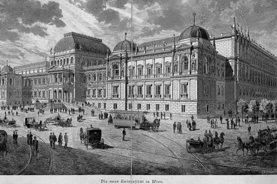 Vienna's University around the time Julius would have studied law. He would have been part of the University's earliest intake of Jewish students