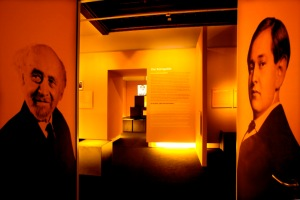 Entrance to Vienna's Jewish Museum's 400 sq. meter, multi-media exhibition on the Korngolds