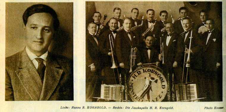 Hans Robert changed his name to Hanns Robert and led a local jazz combo - not a fact mentioned by either Julius or Luzi in their memoirs