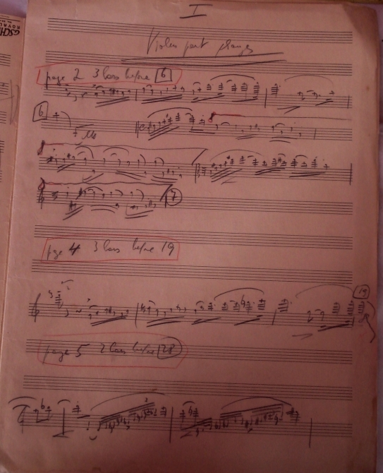 Korngold's sketches for the violin concerto