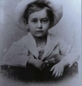 Erich Wolfgang Korngold aged 5