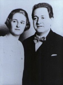 Erich Wolfgang and Luzi on their wedding day, 1924