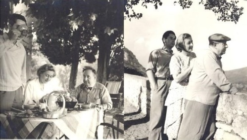 Erich Wolfgang, Luzi and George Korngold in Europe 1949