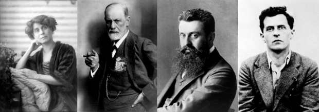 Viennese Jews who made a difference: Berta Zuckerkandl; Sigmund Freud; Theodor Herzl and Ludwig Wittgenstein