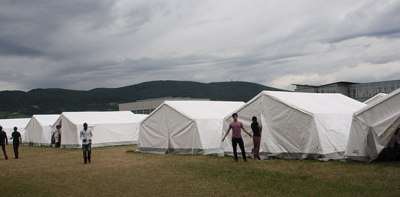 Tent-City in Traiskirchen Lower Austria