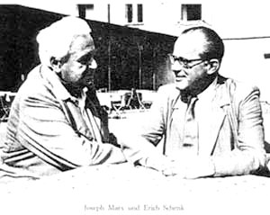 Joseph Marx and the notorious Nazi sympathiser and academic Erich Schenck