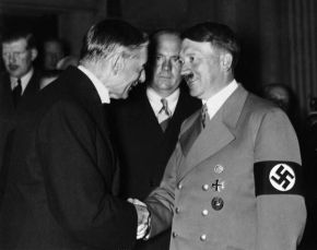 Neville Chamberlain and Adolf Hitler 1938