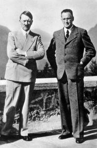 Konrad Henlein and Adolf Hitler at Hitler's home in Berchtesgaden