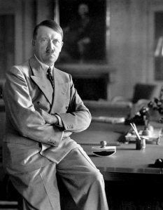 Hitler sat on his desk in Berchtesgaden