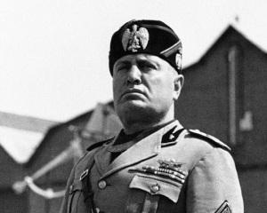 'Il Duce' Benito Mussolini, Italy's dictator