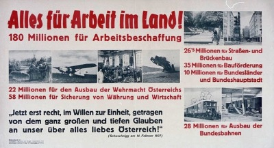 Propaganda of the Fatherland Front appealing to the workers of Austria