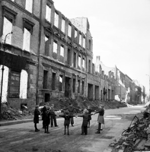 War damaged Berlin in the 1950s