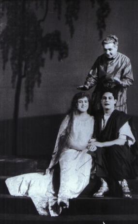 Kiepura, Lehmann,Wallerstein during Heliane Rehearsal 1927JP