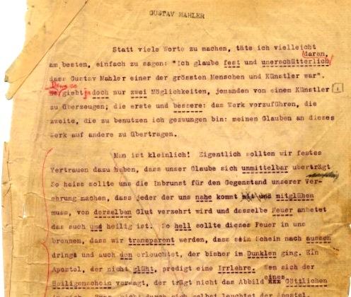 Mahler vortrag 1911