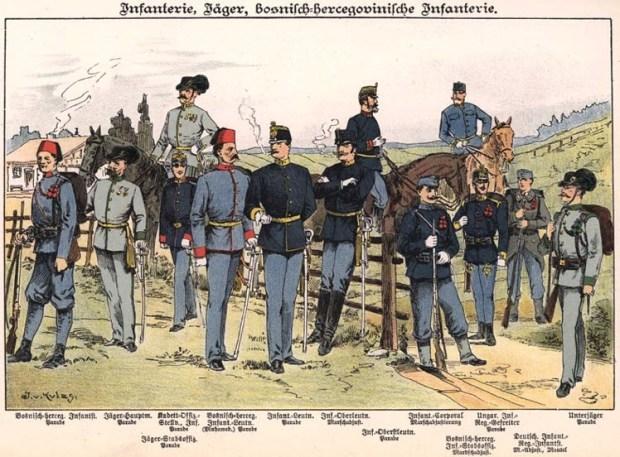 Vielvölkerstaat Österreich Infanterie