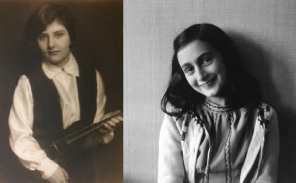 Alma Rosé and Anne Frank as teens
