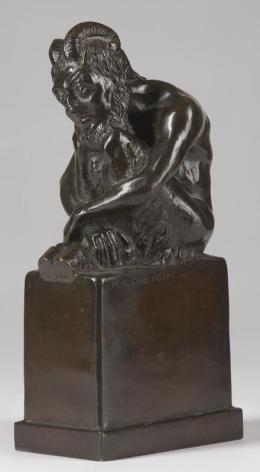 Nachdenklicher Faun 1917 Minna Lewi